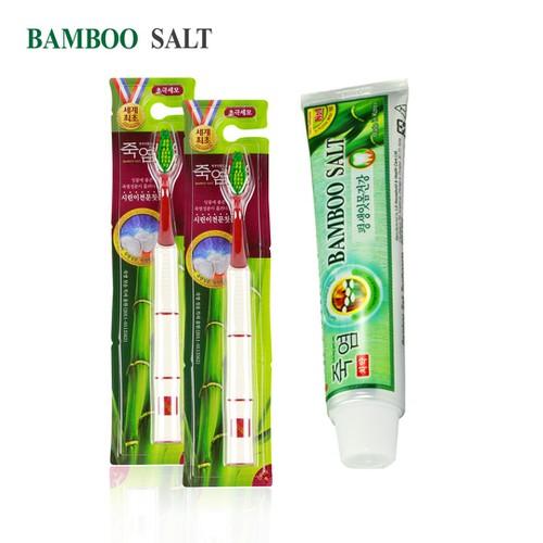 Bộ kem đánh răng Bamboo Salt 140g + 2 bàn chải Shirinnee chăm sóc răng ê buốt - 6844864 , 13559835 , 15_13559835 , 126000 , Bo-kem-danh-rang-Bamboo-Salt-140g-2-ban-chai-Shirinnee-cham-soc-rang-e-buot-15_13559835 , sendo.vn , Bộ kem đánh răng Bamboo Salt 140g + 2 bàn chải Shirinnee chăm sóc răng ê buốt