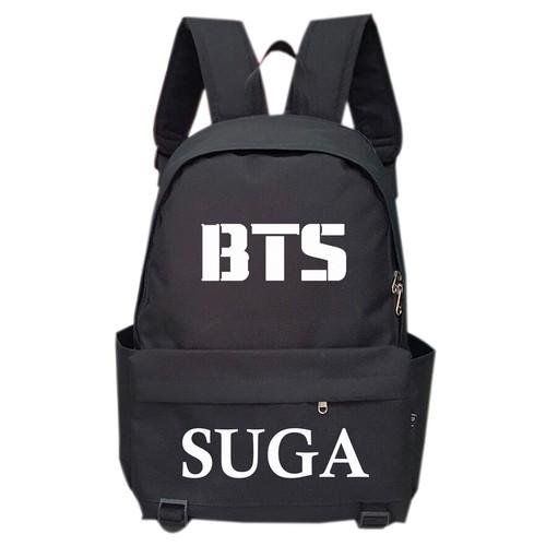 Balo Troy in logo và tên Suga của BTS