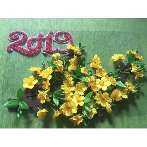Bộ Nhánh hoa mai trang trí tết