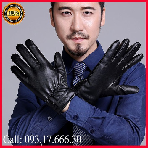 Găng tay da nam - cao cấp