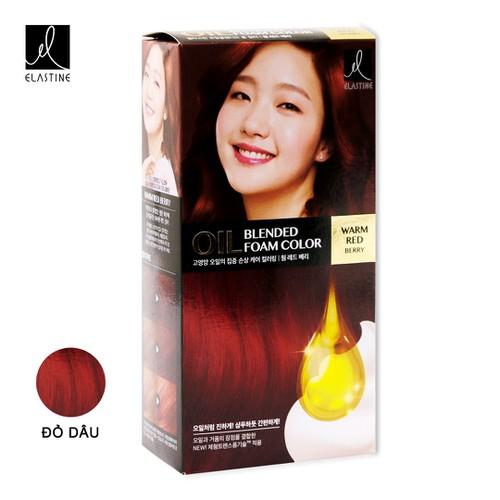 Gội nhuộm Elastine Warm Red Berry 113g đỏ dâu