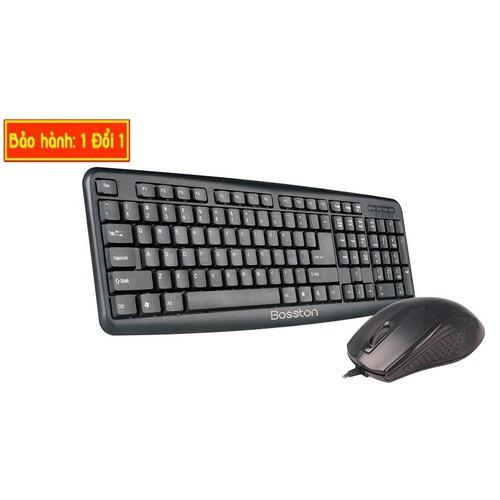 Combo phím chuột Bosston chuột giao tiếp USB dùng được cho cả Laptop, PC