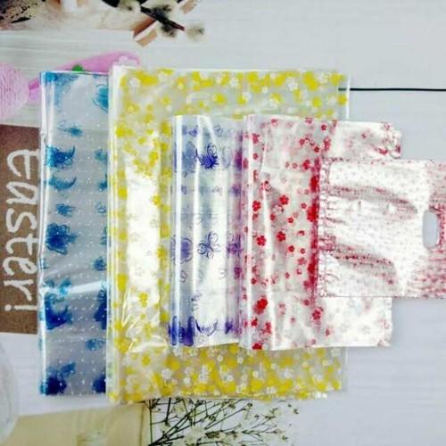 1 Kg Túi nylon trong in in hình trái tim, rau củ , động vật, hoa cỏ - plastic bag