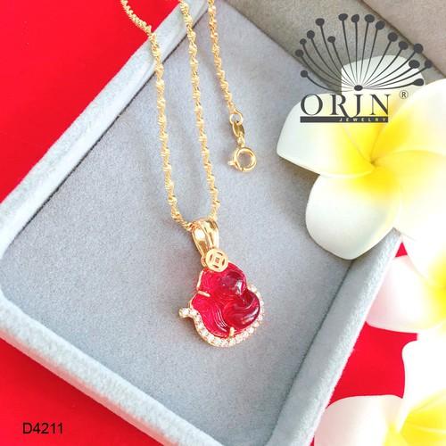 Dây chuyền nữ dạng xoắn mặt hồ ly màu đỏ đính đá thiết kế bền màu cao cấp Orin D4211
