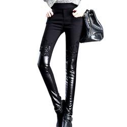 Quần legging nữ ren phối thun,phong cách mới lạ không đụng hàng 102