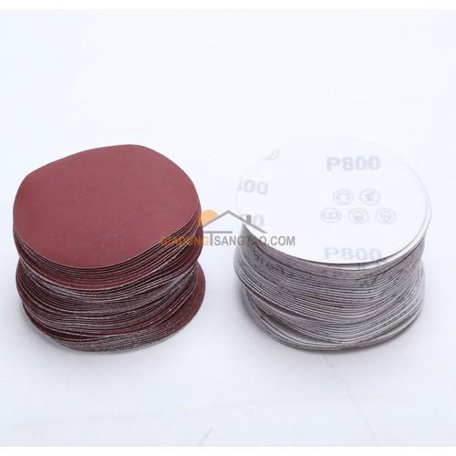 Bộ 100 giấy chà nhám mài bóng, đánh bóng tròn 2 inch - độ mịn từ 60-2000