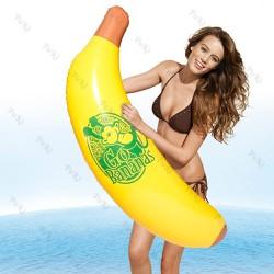 Phao bơi CHUỐI bơm hơi 120x50cm, bơi lội, dạ tiệc, đám cưới, đi biển - POKI