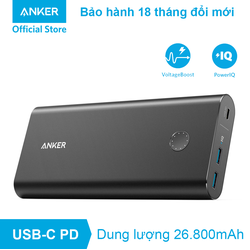Pin dự phòng ANKER PowerCore+ 26800 USB-C Power Delivery, - A1375 - Đen