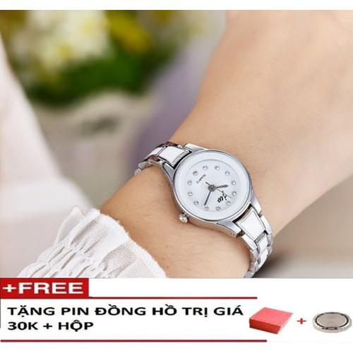 Đồng hồ thời trang nữ chính hãng mặt tròn dây kim loại trắng cao cấp thiết kế thời trang nữ tính-Tặng pin dự phòng chính hãng - 4583039 , 13556000 , 15_13556000 , 400000 , Dong-ho-thoi-trang-nu-chinh-hang-mat-tron-day-kim-loai-trang-cao-cap-thiet-ke-thoi-trang-nu-tinh-Tang-pin-du-phong-chinh-hang-15_13556000 , sendo.vn , Đồng hồ thời trang nữ chính hãng mặt tròn dây kim loại