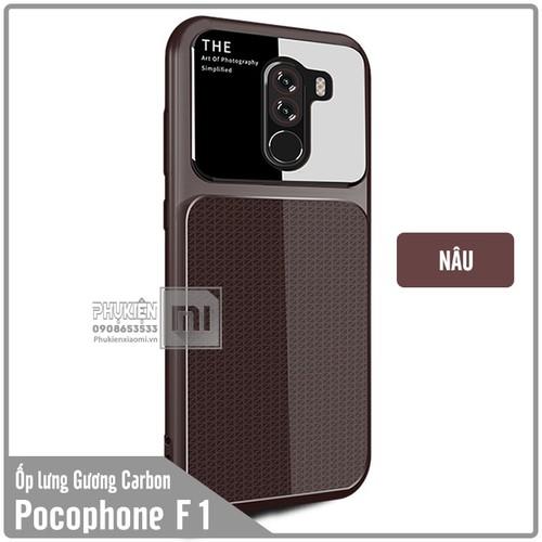 Ốp lưng Xiaomi Pocophone F1 gương Carbon viền nhựa dẻo - màu nâu - 6835896 , 13548326 , 15_13548326 , 70000 , Op-lung-Xiaomi-Pocophone-F1-guong-Carbon-vien-nhua-deo-mau-nau-15_13548326 , sendo.vn , Ốp lưng Xiaomi Pocophone F1 gương Carbon viền nhựa dẻo - màu nâu