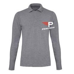 Áo thun nam cổ bẻ dài tay chuẩn phong cách PIGO PG09 - 1 - ghi xám