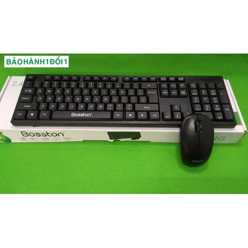 Combo phím chuột không dây Bosston WS-100 thiết kế đơn giản, hình dáng sang trọng