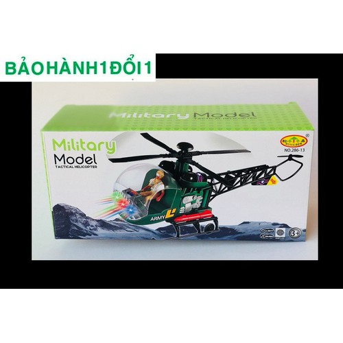 Đồ chơi trực thăng có Led quân đội + tặng kèm pin