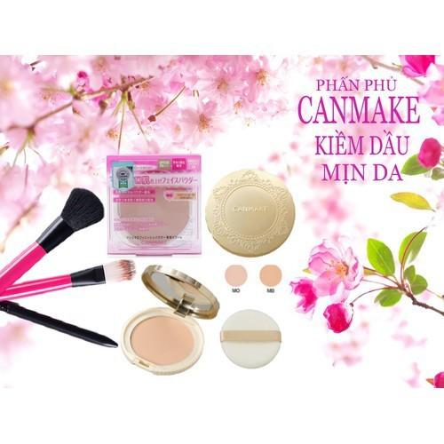Phấn phủ Canmake kiềm dầu mịn da Nhật Bản chính hãng