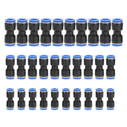 5 Đầu nối nhanh ống nhựa thẳng  PU10 - Dây hơi đường kính 10mm - Chính Hãng