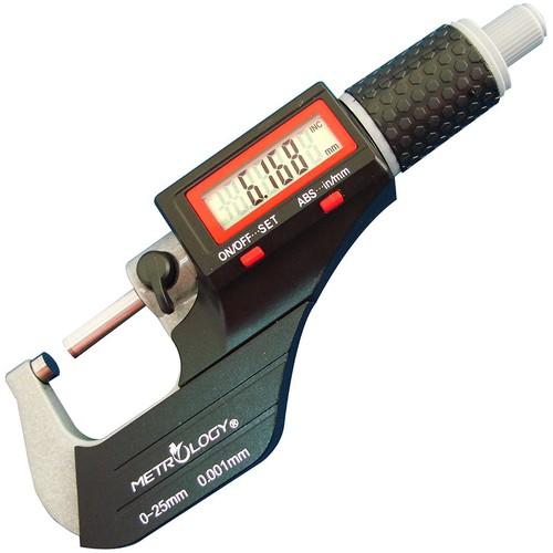 0-25mm Panme điện tử đo ngoài Metrology EM-9001