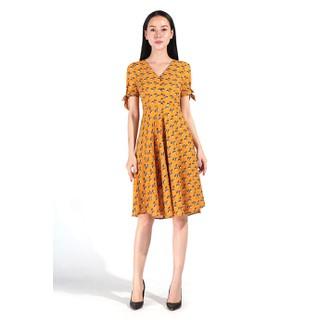 De Leah - Đầm Xoè Cúc Trai - Thời trang thiết kế - VL1821041V thumbnail