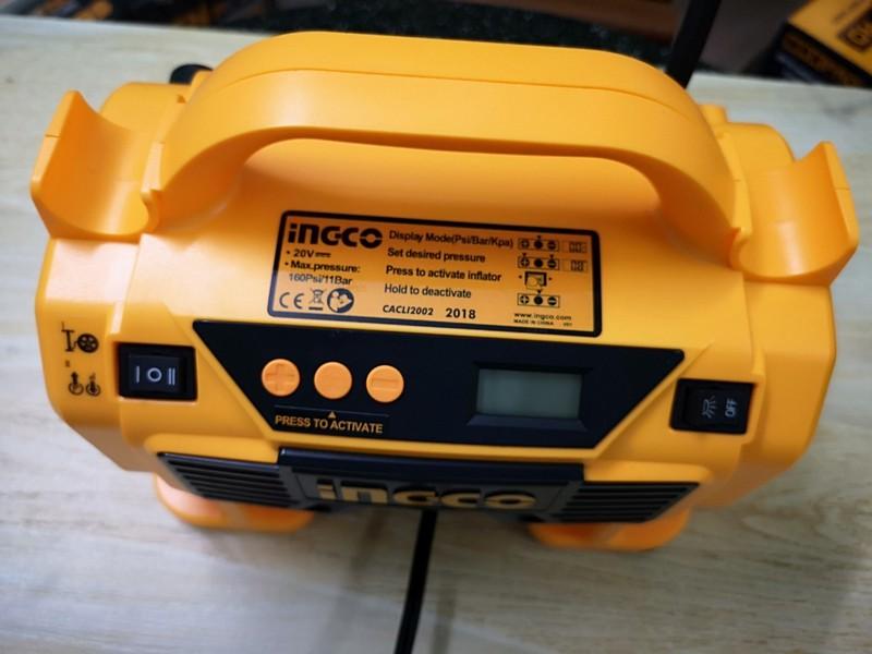 20V Máy nén khí tự động dùng pin INGCO CACLI2002-1PIN1SAC -Kèm 1 pin Lithium FBLI2001 và 1 sạc FCLI2001 7
