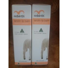 COMBO 02 Son Chống Nắng Nhau Thai Cừu Và Vitamin E Rebirth Lanolin Lip Balm Vitamin E & Apricot Oil - CVU_COMBO2SON