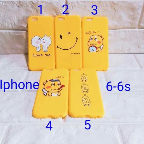Ốp lưng IPhone 6-6s full màu vàng full deo
