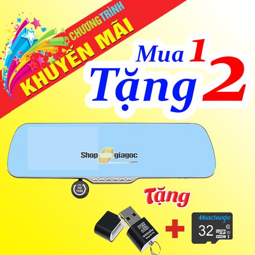 Combo Camera Hành Trình 5Inch Cảm Ứng HD Xoay 360 + Thẻ Nhớ 32G + Đầu đọc thẻ nhớ