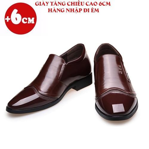 Giày lười, mọi tăng chiều cao nam - Tăng 6cm - Da Bò Nhập Khẩu