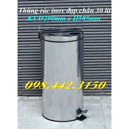 Thùng rác inox đạp chân 30L - 6858761 , 13576760 , 15_13576760 , 519000 , Thung-rac-inox-dap-chan-30L-15_13576760 , sendo.vn , Thùng rác inox đạp chân 30L