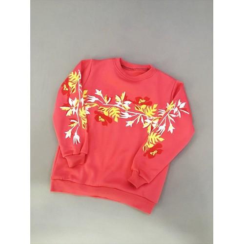 Áo Sweater trẻ trung ,năng động với họa tiết hoa xuân H037
