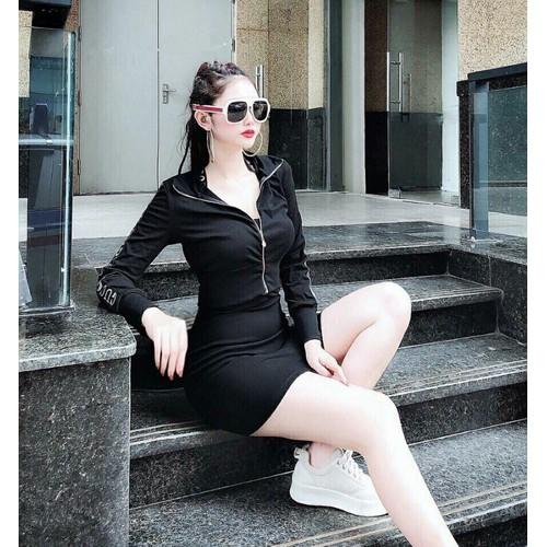 Đầm body kèm áo khoác model