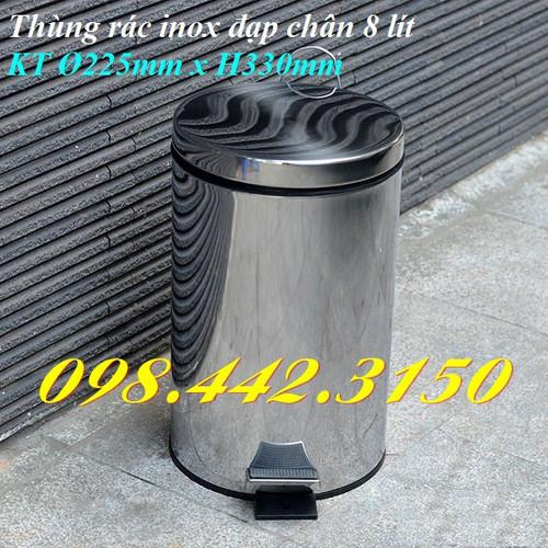 Thùng rác inox đạp chân 8L - 6852053 , 13568424 , 15_13568424 , 289000 , Thung-rac-inox-dap-chan-8L-15_13568424 , sendo.vn , Thùng rác inox đạp chân 8L