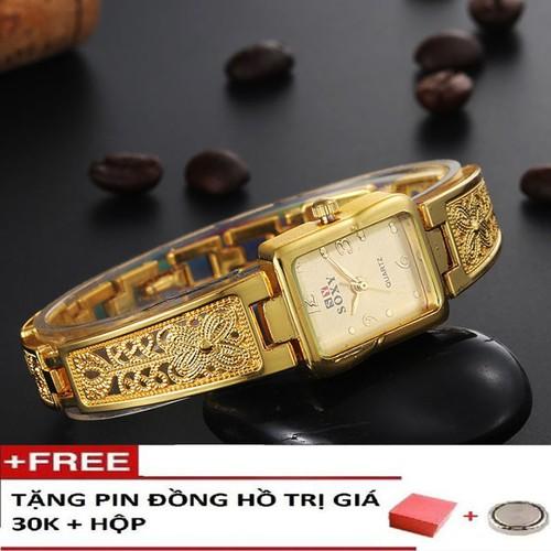Đồng hồ thời trang nữ lắc tay mặt chữ nhật dây chạm hoa tinh tế thiết kế tỉ mỉ chi tiết quý phái-Tặng pin dự phòng + hộp cao cấp - 6853602 , 13570305 , 15_13570305 , 400000 , Dong-ho-thoi-trang-nu-lac-tay-mat-chu-nhat-day-cham-hoa-tinh-te-thiet-ke-ti-mi-chi-tiet-quy-phai-Tang-pin-du-phong-hop-cao-cap-15_13570305 , sendo.vn , Đồng hồ thời trang nữ lắc tay mặt chữ nhật dây chạm ho