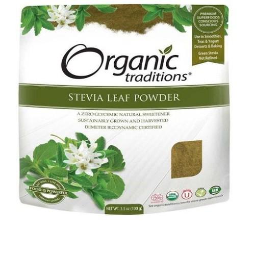 Đường cỏ ngọt Stevia hữu cơ Organic Traditions 100g