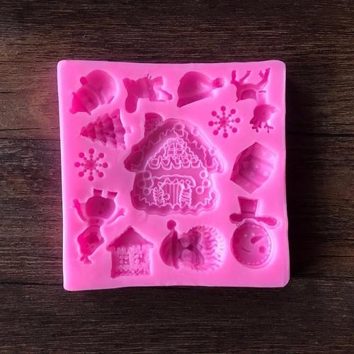Khuôn rau câu 4D silicone  Trang trí giáng sinh