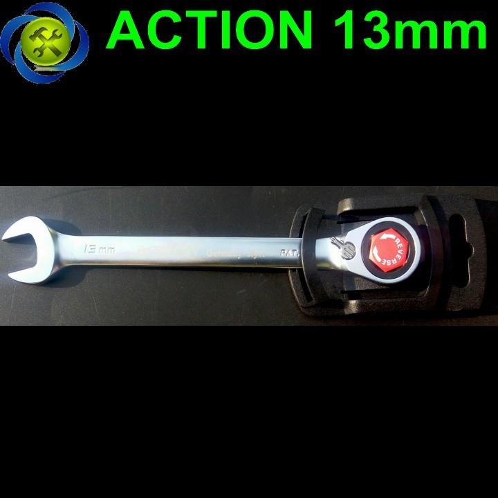 Cờ lê vòng miệng tự động Action 13mm có khóa 1