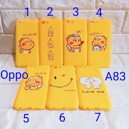 Ốp lưng Oppo A83 full màu vàng full dẻo