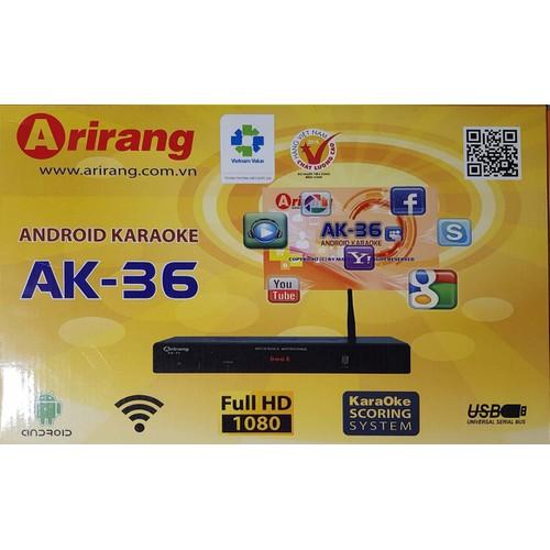 Đầu android karaoke Arirang AK36 tặng kèm bộ mic chính hãng trị giá 600.000 đ