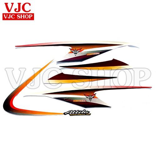 Bộ tem xe Attila Victoria màu đỏ