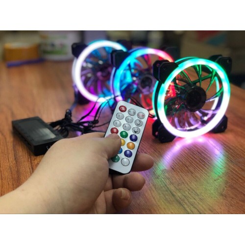FAN LED Aigo DR12 3 In 1 Có Remote 12cm