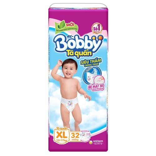 Bỉm - Tã quần Bobby size XL - 32 miếng - Cho bé 12 - 17kg