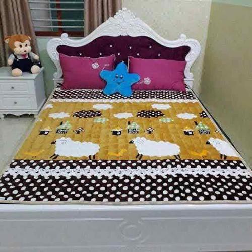 Thảm nhung trải giường hoa văn m8