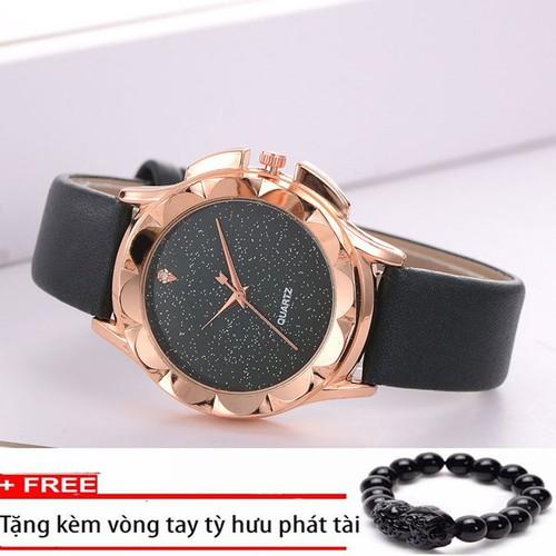Đồng hồ thời trang nữ dây da mặt tròn kính pha lê cao cấp kiểu dáng hiện đại dễ dàng phối đồ -Tặng vòng tỳ hưu may mắn - 6851199 , 13567646 , 15_13567646 , 400000 , Dong-ho-thoi-trang-nu-day-da-mat-tron-kinh-pha-le-cao-cap-kieu-dang-hien-dai-de-dang-phoi-do-Tang-vong-ty-huu-may-man-15_13567646 , sendo.vn , Đồng hồ thời trang nữ dây da mặt tròn kính pha lê cao cấp kiểu