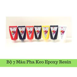 Combo bộ 7 màu dùng pha Keo Epoxy Resin đổ nhựa 350g