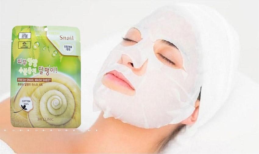 Bộ 10 mặt nạ dịch nhầy ốc sên - 3W CLINIC Fresh Snail Mask Sheet ...
