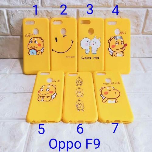 Ốp lưng Oppo F9 full màu vàng full dẻo
