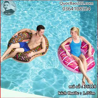 Phao bơi hình bánh ngọt 1.07m - thích hợp mọi độ tuổi - Bestway 36118 - g36118 thumbnail