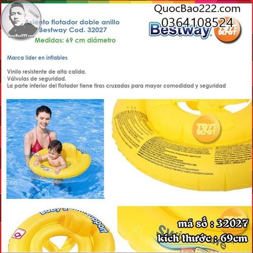 Phao bơi chống lật cho bé đường kính 69cm  Bestway 32027 - 6894658 , 13619270 , 15_13619270 , 95000 , Phao-boi-chong-lat-cho-be-duong-kinh-69cm-Bestway-32027-15_13619270 , sendo.vn , Phao bơi chống lật cho bé đường kính 69cm  Bestway 32027