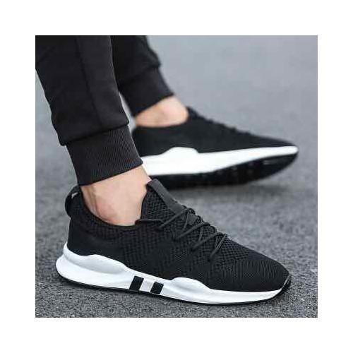 Giày nam thể thao - đen đế trắng - đế êm - thoáng khí