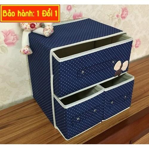 Tủ vải đựng đồ 3 ngăn giúp gọn gàng và ngăn nắp - 4511124 , 14064524 , 15_14064524 , 129000 , Tu-vai-dung-do-3-ngan-giup-gon-gang-va-ngan-nap-15_14064524 , sendo.vn , Tủ vải đựng đồ 3 ngăn giúp gọn gàng và ngăn nắp