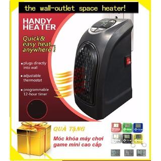 Quạt Sưởi Ấm Handy Heater có hẹn giờ Tặng Móc Khóa Máy Chơi Game - quạt sưởi tiết kiệm điện thumbnail