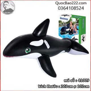 Phao bơi hình cá heo 2.03m x 1.02m - Bestway 41009 - k41009 thumbnail